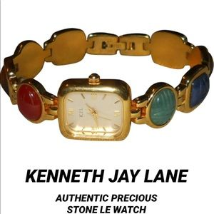 KENNETH JAY LANE• AUTHENTIC PRECIOUS STONES WATCH